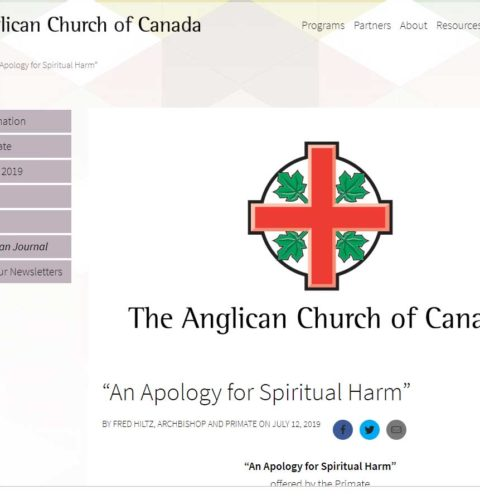 "The Anglican Church of Canada – ""An Apology for Spiritual Harm"""